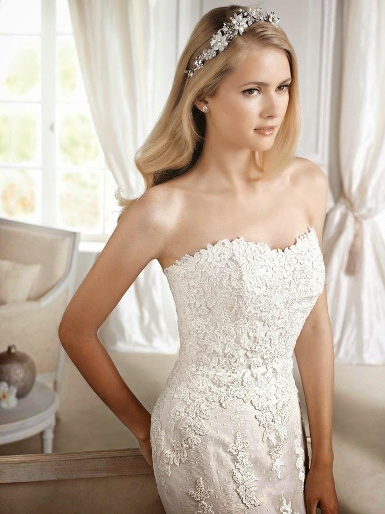 Linea romantica e glamour con dettagli preziosi e senza eccessi  la collezione  2015 di La Sposa 1a2d493107b