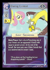 MLP Staring Contest Canterlot Nights CCG Card