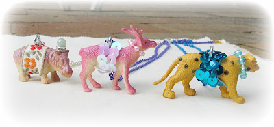 image anthropologie-inspired party animal necklaces plastic animals jewellery two cheeky monkeys