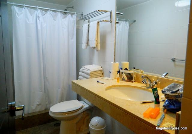 Banheiro do apartamento do Hotel Casa Suyay, Miraflores, Lima