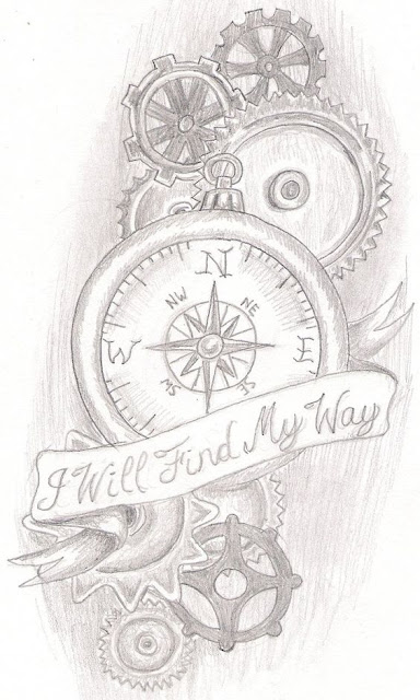 Amazing Steampunk Compass Tattoos For Men and Women