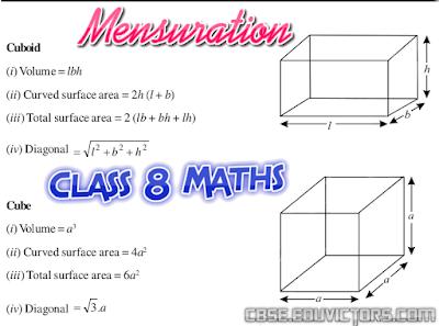 CBSE Class 8 - Maths - Mensuration - Very Short Q and A (#cbsenotes)(#class8Maths)(#eduvictors)