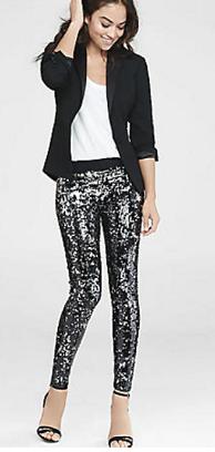 Express Sequin Velvet Pants