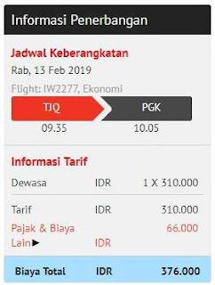 harga total tanpa bagasi terdaftar