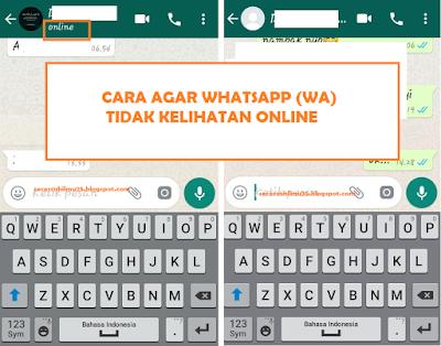 Bagaimana Cara Membuat Agar Whatsapp Tidak Kelihatan Online?