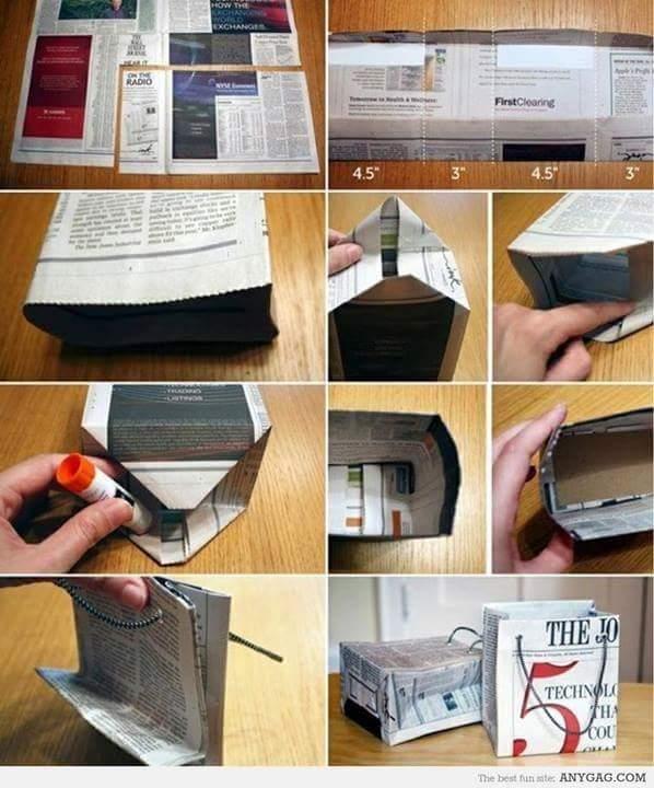 Idea Kreatif Untuk Yg Minat Mendeko Sesuatu Dengan Bajet Sikit Dan Menggunakan Barang Terpakai Diy Beg Kertas