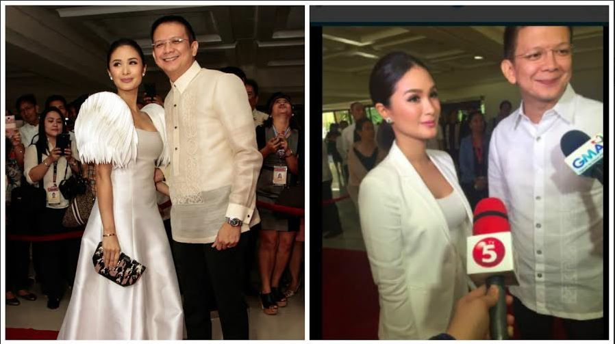 Sen. Chiz Escudero and wife Heart Evangelista-Escudero