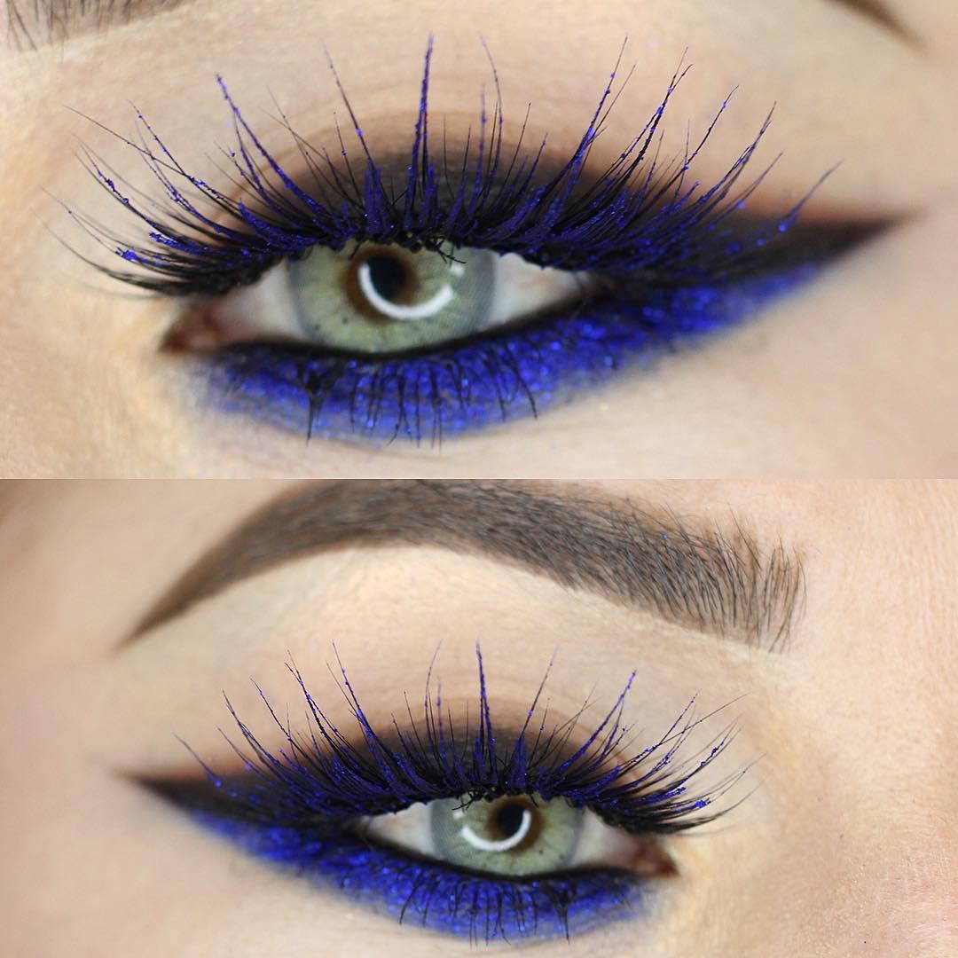 Maquiagem azul para o carnaval 2018