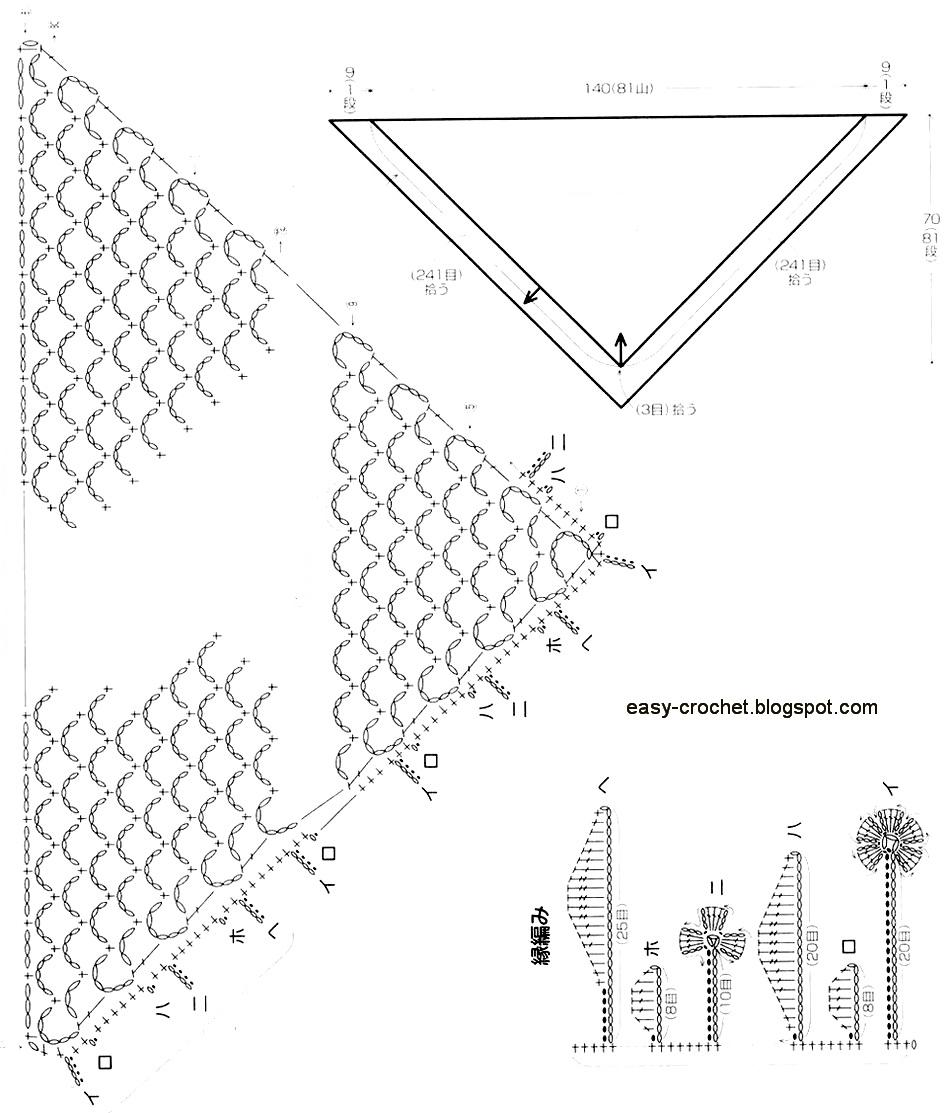 Stylish Easy Crochet: Easy Crochet Lace Shawl Pattern