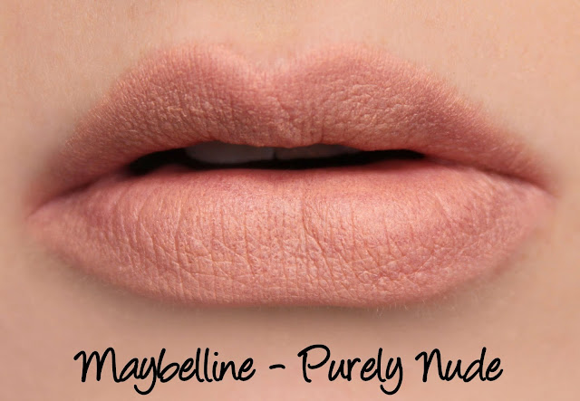 Maybelline Colorsensational Inti-Matte Nudes - Purely Nude Lipstick Swatches & Review