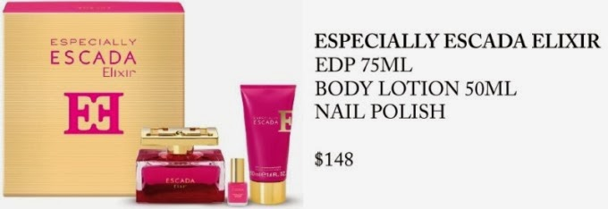 escada fragrance body lotion nail polish christmas