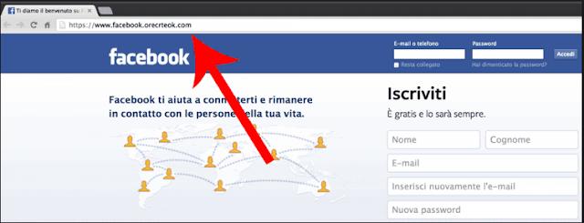 صفحة فيسبوك مزورة لتهكير الحسابات