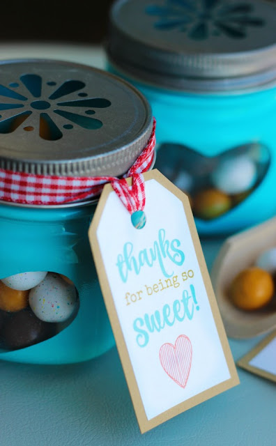 thanks for being so sweet candy jar printable gift tags