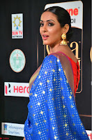 Priya Shree in Beautiful Blue Saree at IIFA Utsavam Awards 2017  Day 2    HD Exclusive Pics 15.JPG