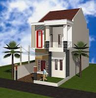 contoh desain rumah minimalis 2 lantai type 36 terbaru