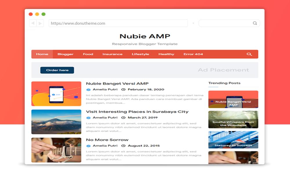 Nubie Banget Pro AMP Blogger Template