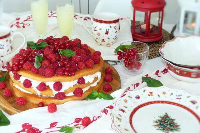 pastel de frutos rojos