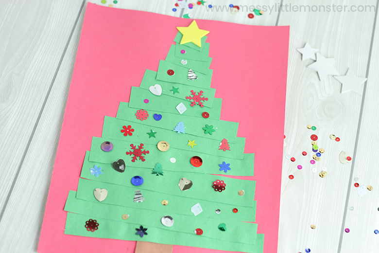 Christmas tree craft for toddlers. Christmas crafts for kids.