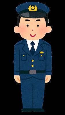 警察官のイラスト(男性・若者)