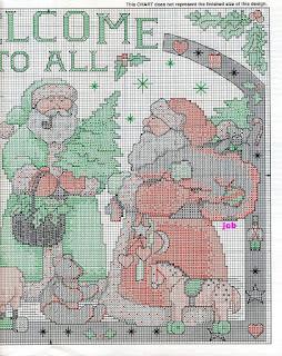 punto croce  per Natale.