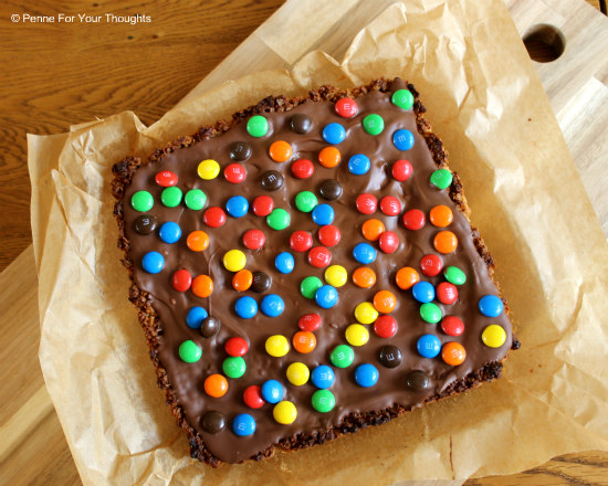 M&M Chocolate Flapjacks
