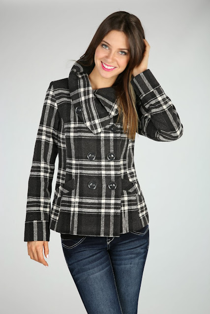Free People Plaid Cocoon Wool Coat