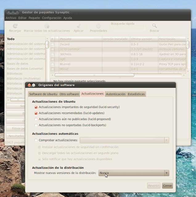 Optimizar actualizaciones en Ubuntu 10.04