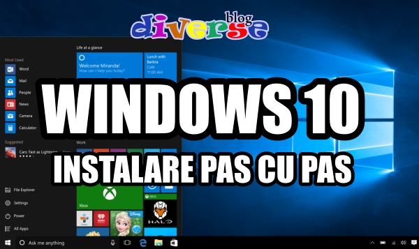 Tutorial instalare Windows 10 pas cu pas