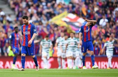 Menang Lawan Eibar, Barca Tetap Gagal Juarai La Liga