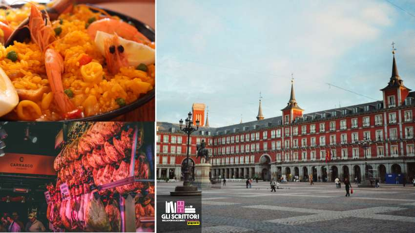 Madrid: Plaza Mayor, paella e prosciutto iberico