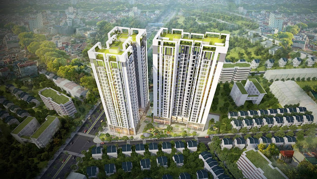 Phối cảnh dự án Sky Central Định Công