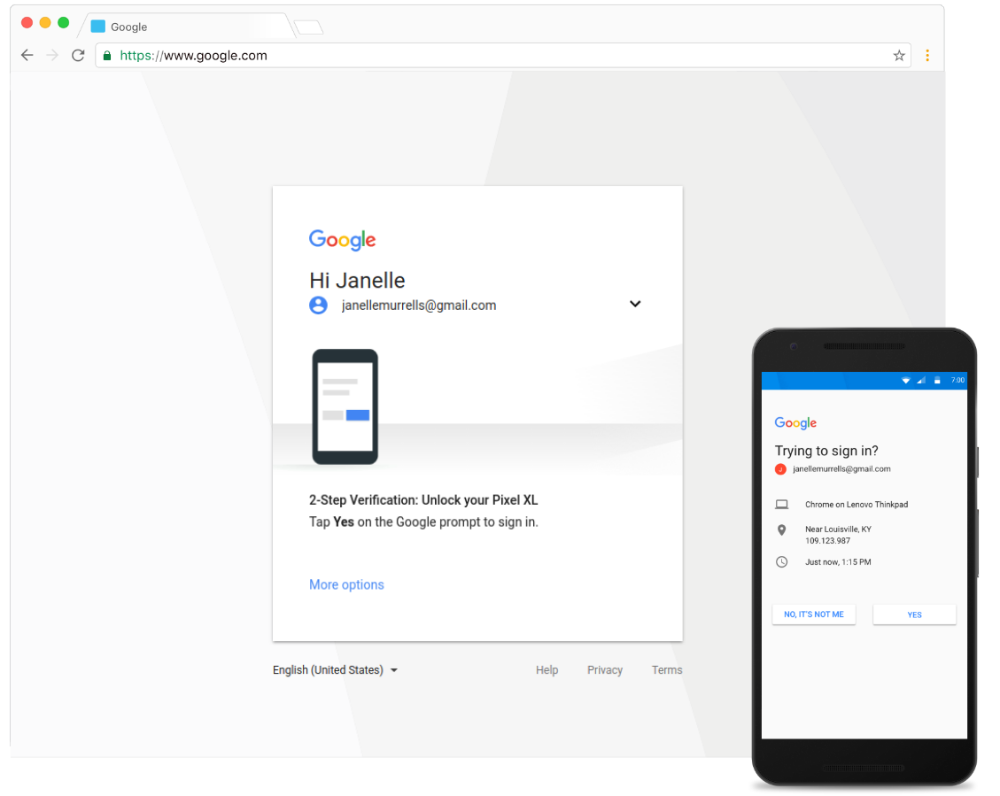 G Suite Updates Blog: Making Google prompt the primary