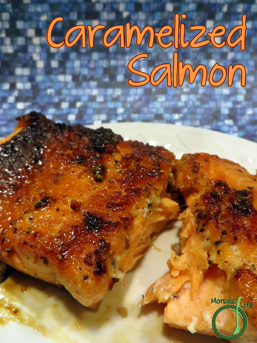 Morsels of Life - Caramelized Salmon - Try this sweetly savory caramelized salmon - all you need is 4 ingredients and less than thirty minutes from fridge to table. You'll have one scrumptious salmon!