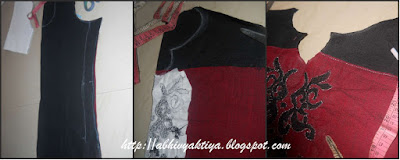 cutting front and back part of kurti