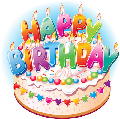 Tarta de cumpleaños en vector