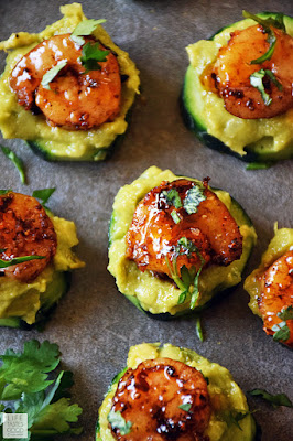 Cucumber Bites with Creole Shrimp and Guacamole | by Life Tastes Good