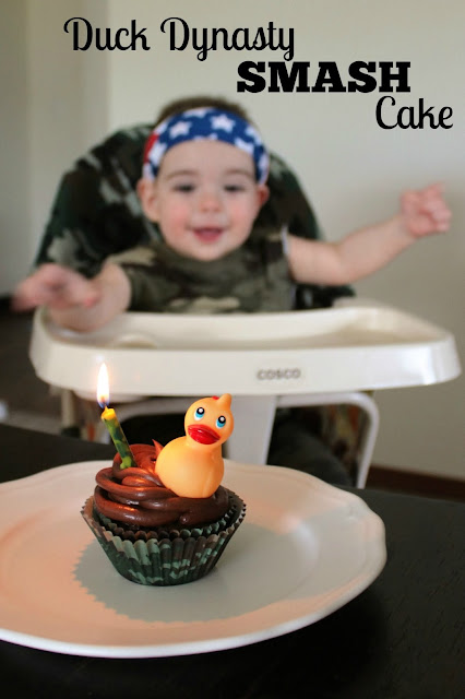 duck dynasty smash cake