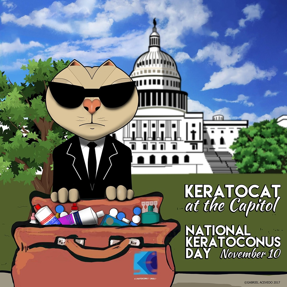 Keratocat at the Capitol: National Keratoconus Day 2017
