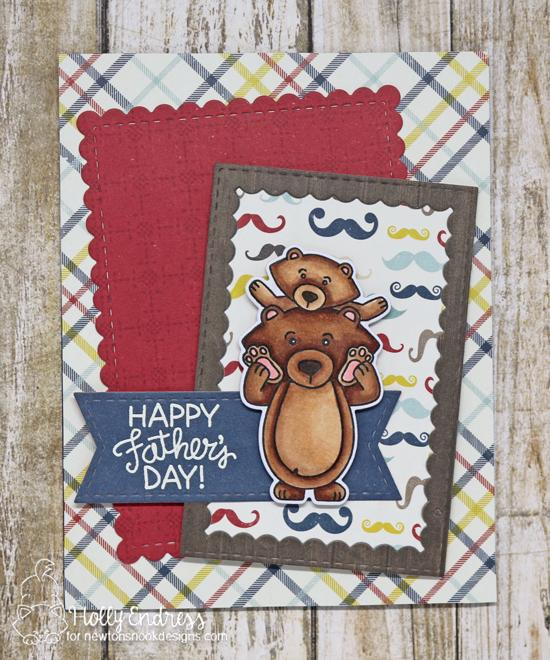 Father's Day Bear Card by Holly Endress | Papa Bear Stamp Set by Newton's Nook Designs #newtonsnook #handmade