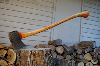 vintage axes, axe is back, project, wood chopping