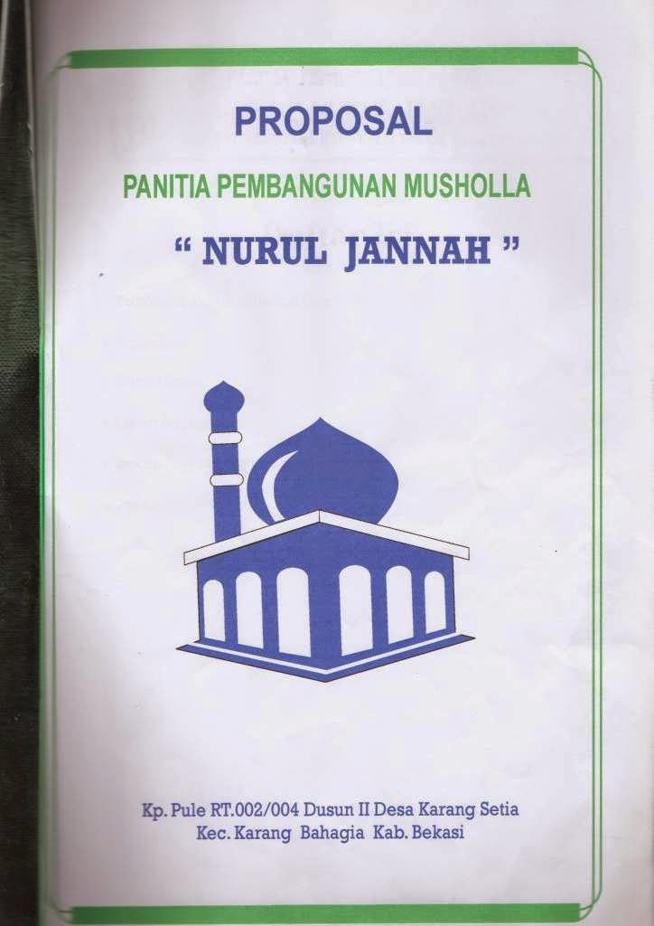 Contoh Proposal Bantuan Dana Masjid Lengkap