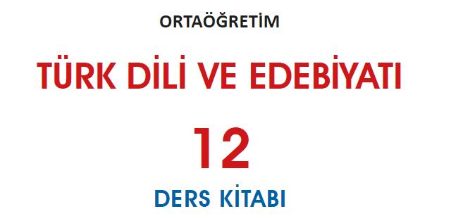 12. Sınıf Türk Dili ve Edebiyatı MEB Yayınları