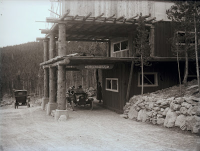 Baldpate Inn construction of Main Lodge   Roessler Collection