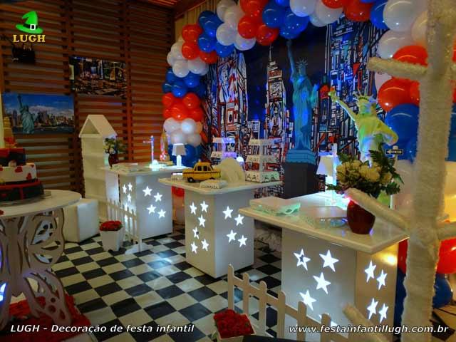 Nova York - Ornamentação de festa de aniversário com o tema Nova York