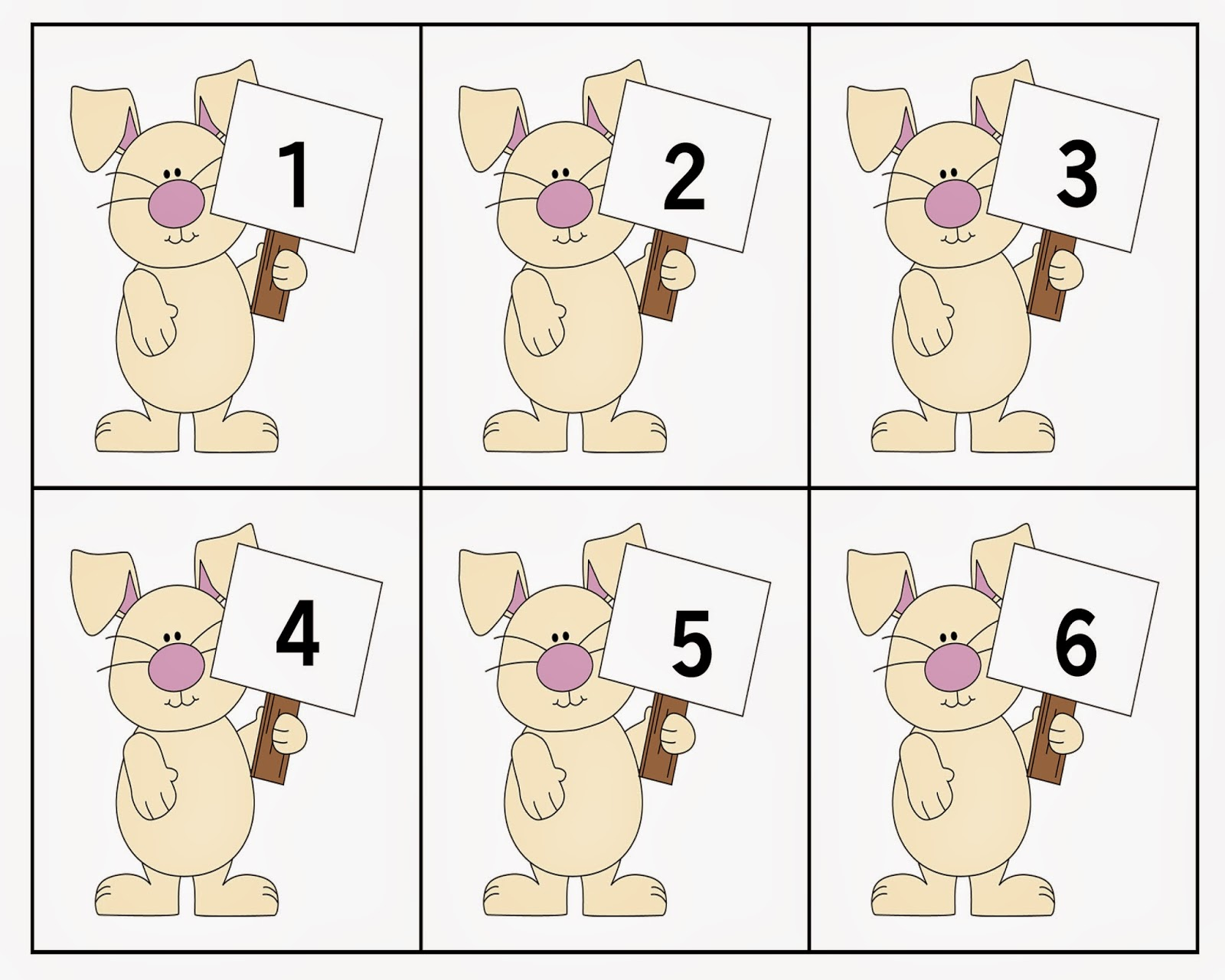 Ourhomecreations Easter Themed Number Recognition Activity