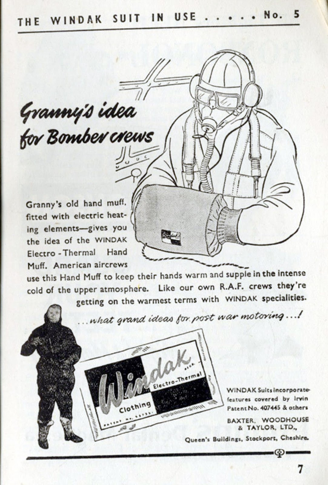 windak electro thermal clothing uk 1944 granny s idea for bomber crews