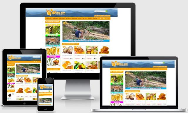 Templates blogspot bán mật ong rừng