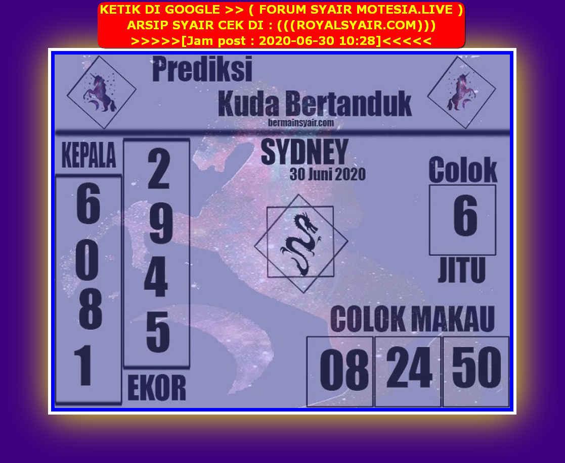 Kode syair Sydney Selasa 30 Juni 2020 219