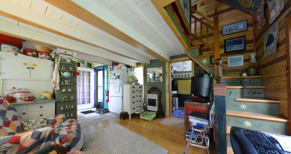 Tiny House Town Cottage With An Eclectic Interior 450 Sq Ft