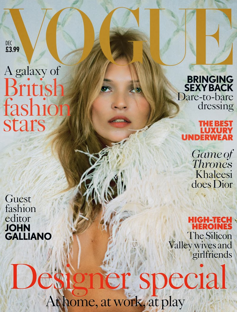 Kate Moss on the cover of British Vogue magazine